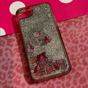 VS FLOATING GLITTER CELL PHONE CHRISTMAS CASE